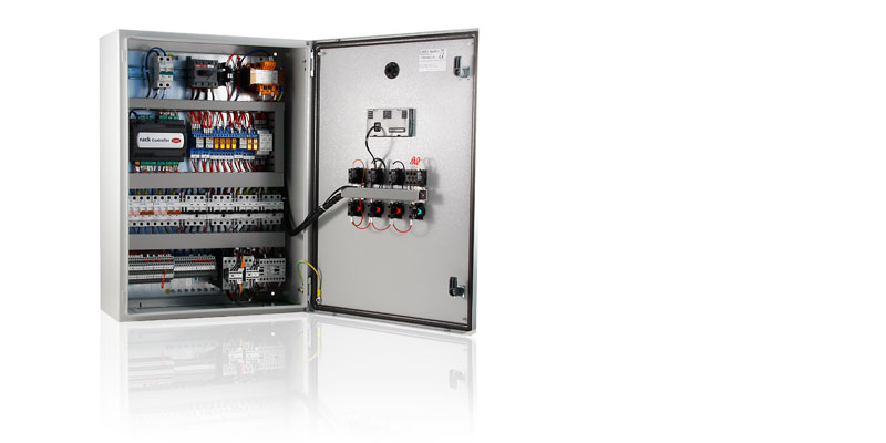 The compressor rack series controllers can manage racks with a maximum of two compressors